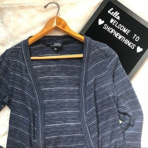 The Limited | 4/$25 Blue Striped Cardigan